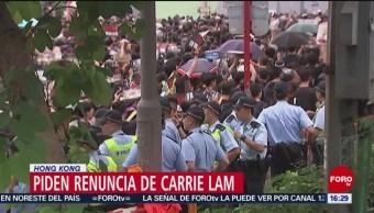 FOTO: Miles de personas exigen la renuncia de jefa del ejecutivo en Hong Kong, 16 Junio 2019