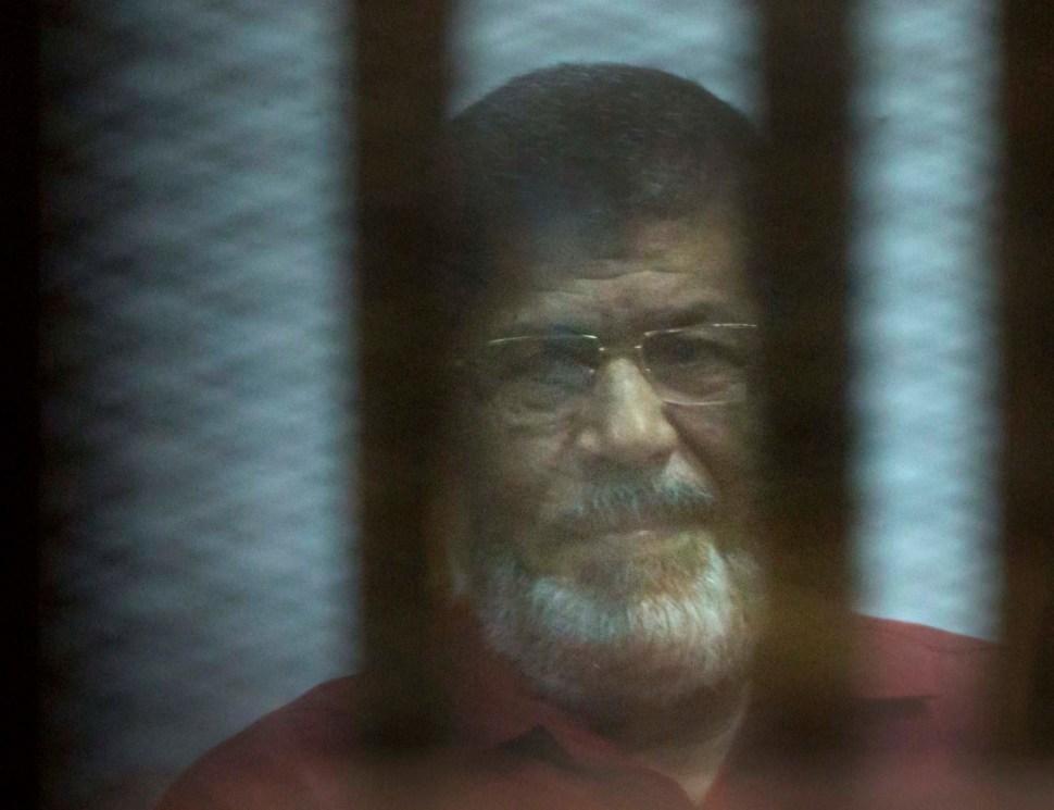 Foto: Mohamed Mursi, expresidente de Egipto, 23 de abril de 2016, El Cairo