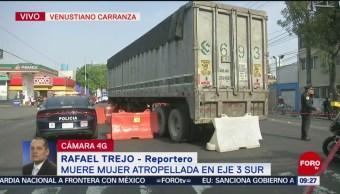 FOTO: Muere mujer atropellada en Eje 3 Sur en la CDMX, 23 Junio 2019