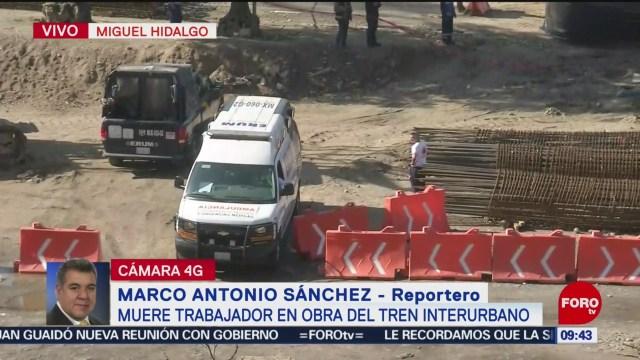 Muere trabajador en obra del Tren Interurbano en alcaldía Miguel Hidalgo