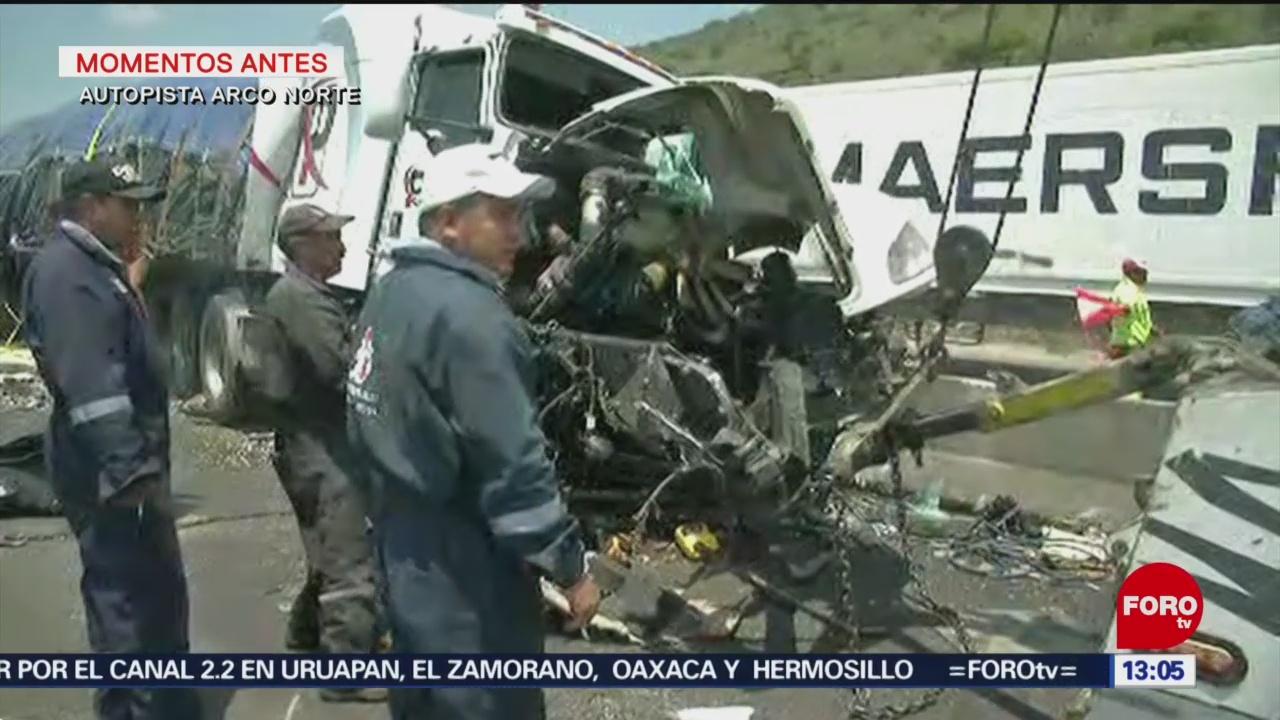 Foto: Muere una persona en accidente en autopista Arco Norte
