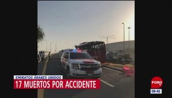 Mueren 17 personas en autobús, el chofer ignoró tope de altura