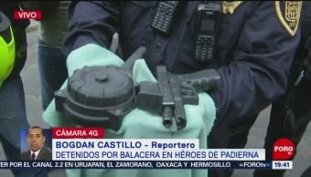 Foto: Armas Detenidos Balacera Héroes De Padierna Tlalpan 18 Junio 2019