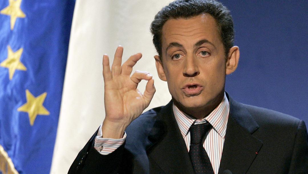 Foto: El expresidente de Francia Nicolas Sarkozy durante su discurso de Año Nuevo en París en 2006, 19 junio 2019