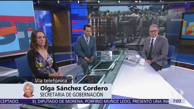 No me han desplazado en temas de migración, dice Olga Sánchez Cordero