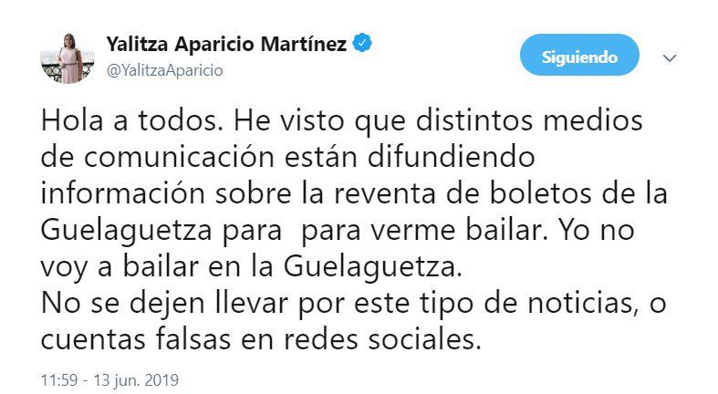 Foto No voy a bailar en la Guelaguetza 2019 Yalitza Aparicio 13 junio 2018