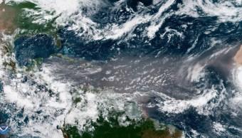 Foto: Nube de polvo del Sahara se dirige hacia el Golfo de México y Yucatán, imagen 23 de junio de 2019 (Foto: Noaa)