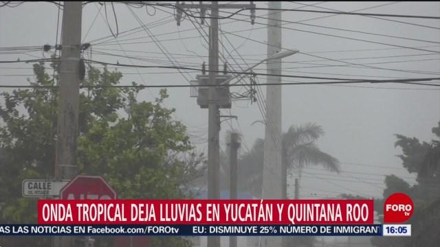 FOTO: Onda tropical deja lluvias en Yucatán y Quintana Roo, 30 Junio 2019