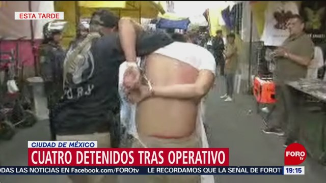 Foto: Operativo Tepito CDMX 6 Personas Detenidas 27 Junio 2019