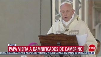 FOTO: Papa Francisco visita a damnificados de sismo en Italia, 16 Junio 2019