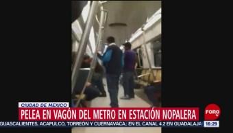 FOTO: Pelea en vagones del Metro