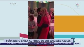 Peña Nieto baila al ritmo de Los Ángeles Azules