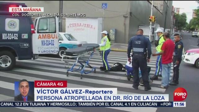 FOTO: Persona atropellada en Dr. Río de la Loza, 2 Junio 2019