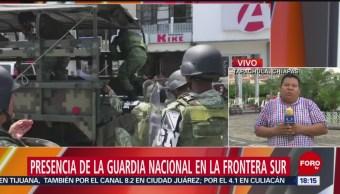 FOTO: Presencia de la Guardia Nacional en la frontera sur de México