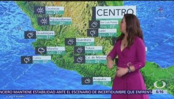 Prevén lluvias de aisladas a intensas en 26 estados del país