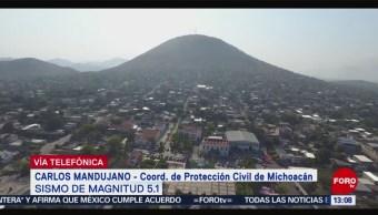 FOTO: Protección Civil de Michoacán no reporta daños tras sismo, 16 Junio 2019