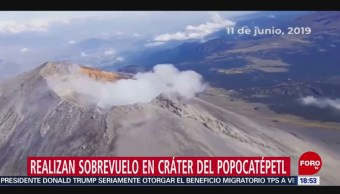 Foto: Realizan Sobrevuelo En Cráter Del Popocatépetl 6 Junio 2019