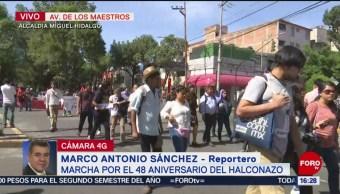 FOTO: Recuerdan aniversario de 'el halconazo' con marcha