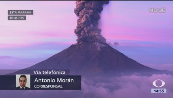 FOTO: Reportan caída de ceniza en Puebla tras segunda explosión del Popocatépetl, 17 Junio 2019