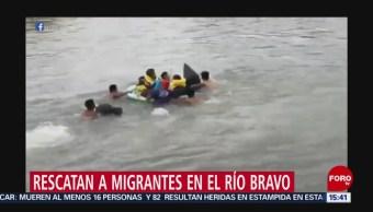 Foto: Rescatan a migrantes en el Río Bravo