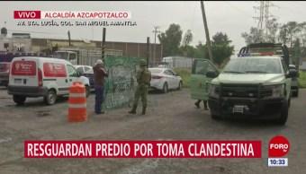 Resguardan vivienda en Azcapotzalco tras toma clandestina