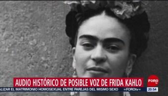 Foto: Grabación Audio Voz Frida Kahlo 12 Junio 2019
