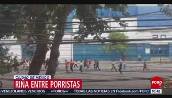 Riña entre pseudoaficionados de Chivas y América en la CDMX