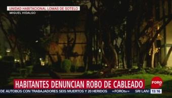 FOTO: Roban cableado eléctrico en alcaldía Miguel Hidalgo