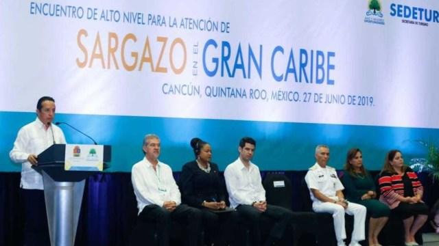 Foto: Se llevó a cabo en Cancún el Encuentro de Alto Nivel para la Atención del Sargazo en el Caribe, 28 junio 2019