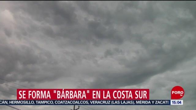 FOTO: Se forma 'Bárbara' en la costa sur de México, 30 Junio 2019