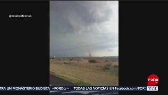 Se forma torbellino en la carretera Chihuahua - Villa Ahumada