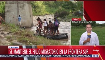 Foto: Flujo Migrantes Frontera Sur México 6 Junio 2019