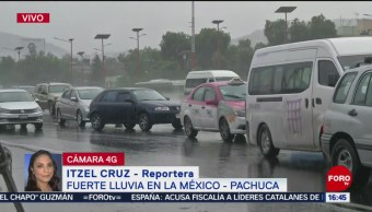 Foto: Se registra fuerte lluvia en la México-Pachuca