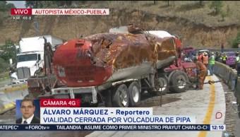 Se registran dos accidentes en la autopista México-Puebla
