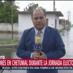 FOTO: Se registran encharcamientos en Chetumal, 2 Junio 2019