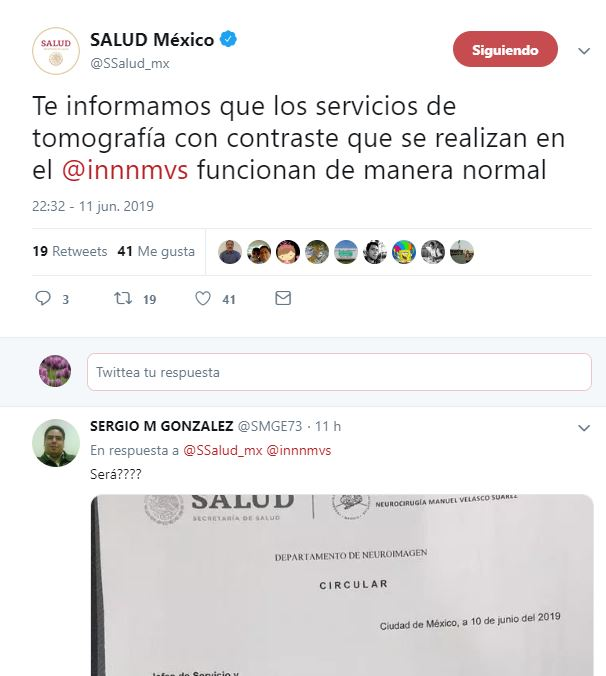 Foto Secretaría de Salud niega suspensión de tomografías 12 junio 2019