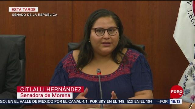 FOTO: Senadora Citlalli Hernández pide no especular sobre explosión de 'libro bomba'