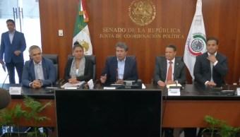 Foto: Ricardo Monreal, coordinador de los senadores de Morena, asegura que esta ley permitirá combatir al crimen organizado, el 29 de junio de 2019 (Senado de la República)