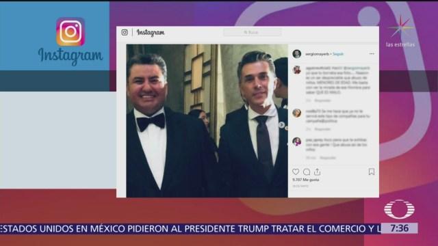 Sergio Mayer se deslinda de Naasón Joaquín García