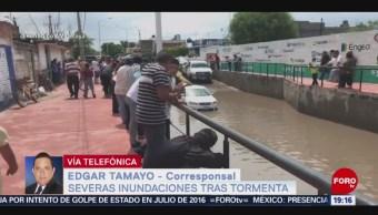 Foto: Inundaciones Tormenta Juventino Rosas Guanajuato 26 Junio 2019