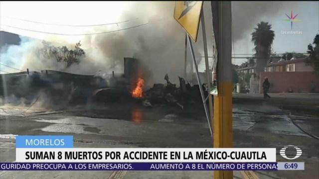 Suman 8 muertos por accidente en la México-Cuautla