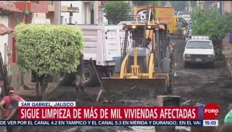 Foto: Tareas de limpieza en San Gabriel, Jalisco