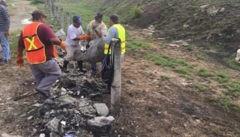 Foto: tiraderos clandestinos en Acapulco, 6 de junio 2019. Twitter @AcapulcoGob