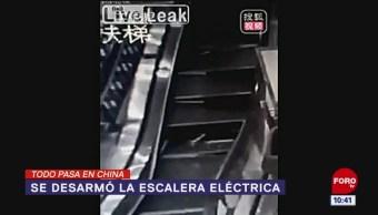 Todo Pasa En China: Se desarmó la escalera eléctrica