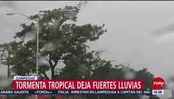 FOTO: Tormenta tropical deja fuertes lluvias en Campeche, 30 Junio 2019