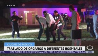 Trasladan órganos a diferentes hospitales de la CDMX