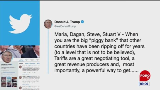 Trump dice que está contento con el acuerdo hecho con México