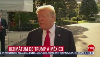 FOTO: Ultimátum de Trump a México sobre el flujo migratorio, 1 Junio 2019