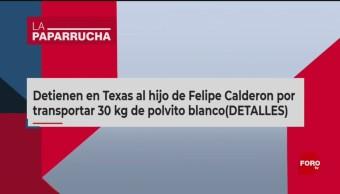 Foto: Hijo Expresidente Calderon Noticias Falsas Drogas Texas 25 Junio 2019