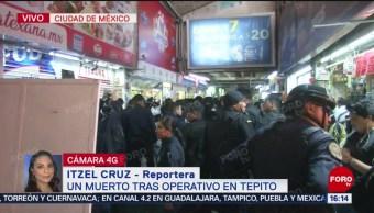 Foto: Un muerto tras balacera en Tepito, CDMX